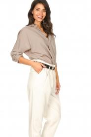 Rabens Saloner |  Oversized cotton top Jojo | grey  | Picture 6
