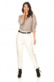 Rabens Saloner |  Oversized cotton top Jojo | grey  | Picture 3
