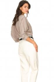 Rabens Saloner |  Oversized cotton top Jojo | grey  | Picture 7