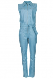 Ibana |  Lamb leather jumpsuit Otto | blue  | Picture 1