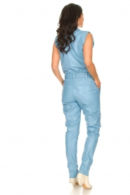 Ibana |  Lamb leather jumpsuit Otto | blue  | Picture 6