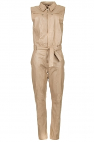 Ibana |  Lamb leather jumpsuit Otto | beige  | Picture 1
