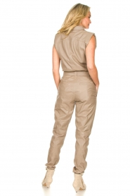 Ibana |  Lamb leather jumpsuit Otto | beige  | Picture 5