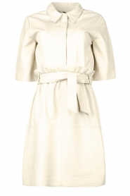 Ibana |  Lambs leather dress Danja | white  | Picture 1