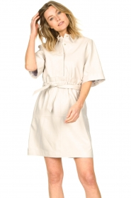 Ibana |  Lambs leather dress Danja | white  | Picture 4