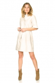 Ibana |  Lambs leather dress Danja | white  | Picture 3