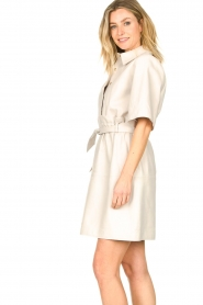 Ibana |  Lambs leather dress Danja | white  | Picture 7