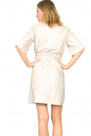 Ibana |  Lambs leather dress Danja | white  | Picture 8