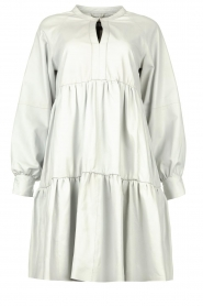 Ibana |  Lamb leather dress Debbie | white  | Picture 1