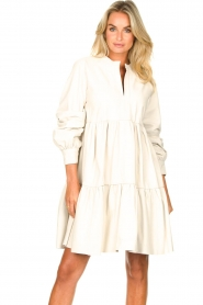 Ibana :  Lamb leather dress Debbie | white - img4