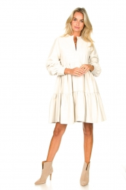Ibana :  Lamb leather dress Debbie | white - img3