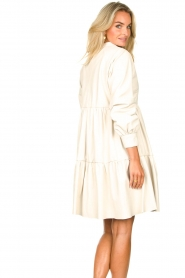 Ibana :  Lamb leather dress Debbie | white - img7