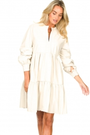 Ibana :  Lamb leather dress Debbie | white - img5