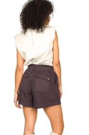 Ibana | Leren top met schoudervulling Trixy | wit  | Afbeelding 5