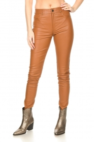 Ibana :  Leather skinny pants Passion | camel - img5