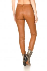Ibana :  Leather skinny pants Passion | camel - img8