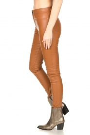 Ibana :  Leather skinny pants Passion | camel - img7