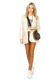 Ibana :  Leather skinny pants Passion | camel - img2