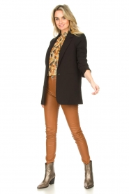 Ibana :  Leather skinny pants Passion | camel - img3