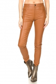 Ibana :  Leather skinny pants Passion | camel - img4