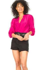 Dante 6 |  Blouse with puff sleeves Ginni | pink  | Picture 2