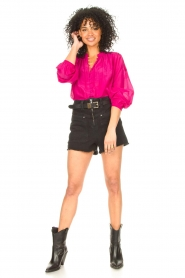 Dante 6 |  Blouse with puff sleeves Ginni | pink  | Picture 3