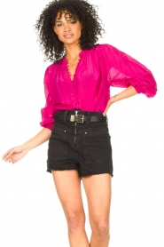 Dante 6 |  Blouse with puff sleeves Ginni | pink  | Picture 4