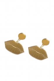 Rijkje Jewelry |  Earrings Lips | gold  | Picture 1