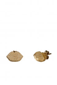 Rijkje Jewelry |  Stud earrings Small Lips | gold  | Picture 1