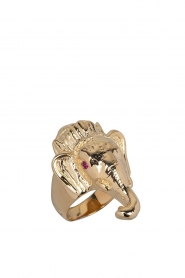 Rijkje Jewelry |  14k gold-plated ring Ganesha | gold  | Picture 1