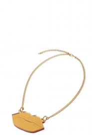 Rijkje Jewelry |  Necklace Lips | gold  | Picture 1