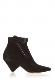 Toral |  Suede ankle boots with buckle detail Ice | black
