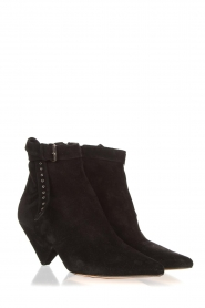 Toral :  Suede ankle boots with buckle detail Ice | black - img3