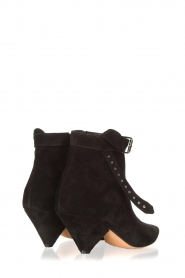 Toral :  Suede ankle boots with buckle detail Ice | black - img4