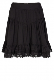 Sofie Schnoor |  Skirt with lace Lia | black  | Picture 1
