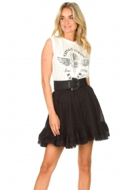 Sofie Schnoor |  Skirt with lace Lia | black  | Picture 5