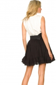 Sofie Schnoor |  Skirt with lace Lia | black  | Picture 7
