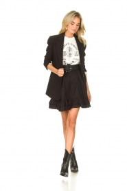 Sofie Schnoor |  Skirt with lace Lia | black  | Picture 3