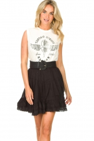 Sofie Schnoor |  Skirt with lace Lia | black  | Picture 2