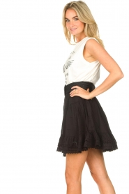 Sofie Schnoor |  Skirt with lace Lia | black  | Picture 6