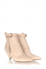 Toral |  Suede ankle boots with buckle detail Ice | beige  | Picture 3