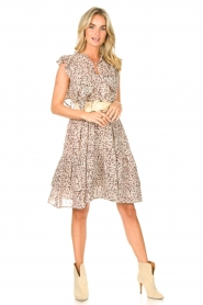 Sofie Schnoor |  Dress with ruffles Walhalla | multi  | Picture 3