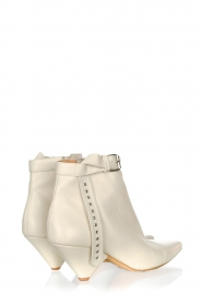 Toral :  Leather ankle boots with buckle detail Ice | beige - img4