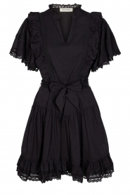 Sofie Schnoor |  Dress with bow tie Aneya | black  | Picture 1