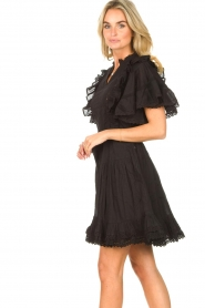 Sofie Schnoor |  Dress with bow tie Aneya | black  | Picture 6