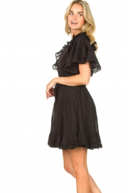 Sofie Schnoor |  Dress with bow tie Aneya | black  | Picture 7