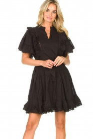 Sofie Schnoor |  Dress with bow tie Aneya | black  | Picture 4