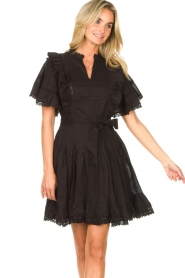 Sofie Schnoor |  Dress with bow tie Aneya | black  | Picture 5