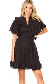 Sofie Schnoor |  Dress with bow tie Aneya | black  | Picture 2