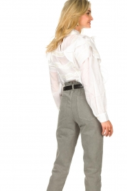 Sofie Schnoor |  Blouse with ruffles Liana | white  | Picture 7